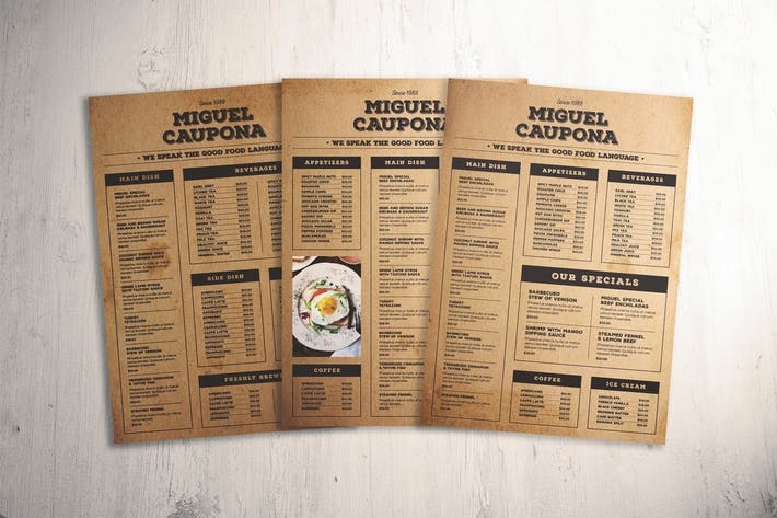 Thumbnail for Classic Food Menu