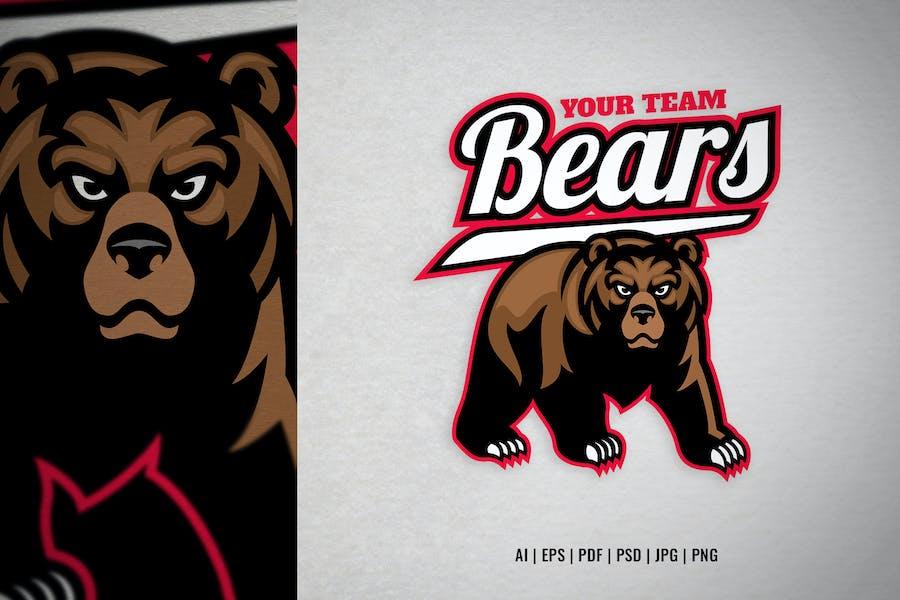 grizzly bear mascot sport e-sport logo