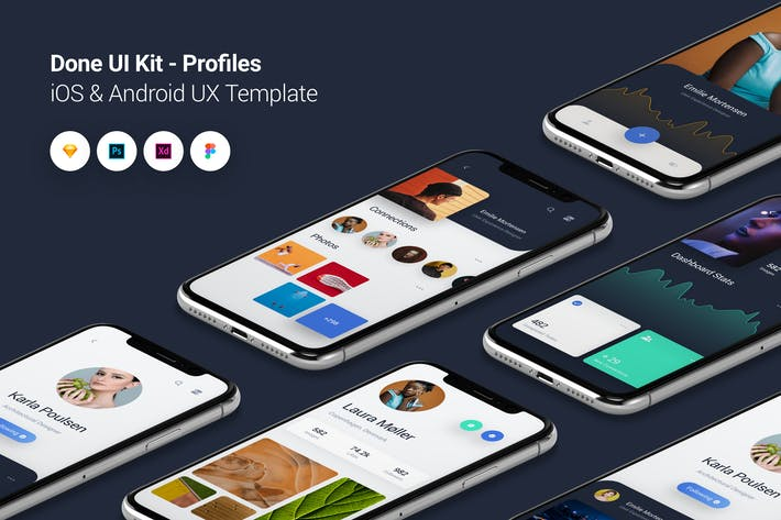 Thumbnail for Profiles - Done UI Kit iOS & Android UX Template