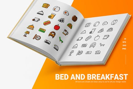 Bed & Breakfast - Icons