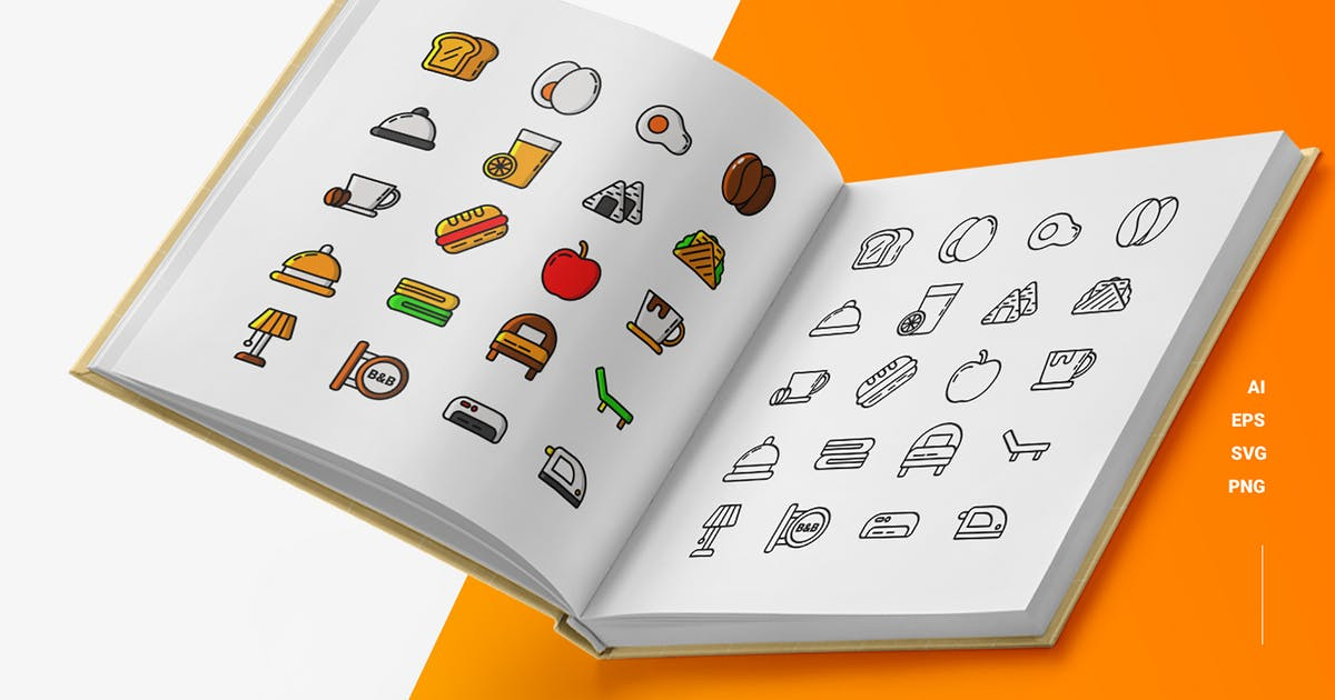 Download Bed & Breakfast - Icons by esensifiksi