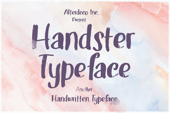 Thumbnail for Handster Typeface