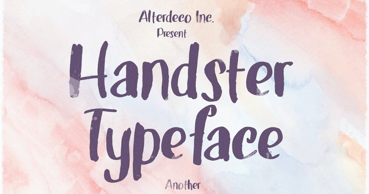 Download Handster Typeface by alterdecoinc