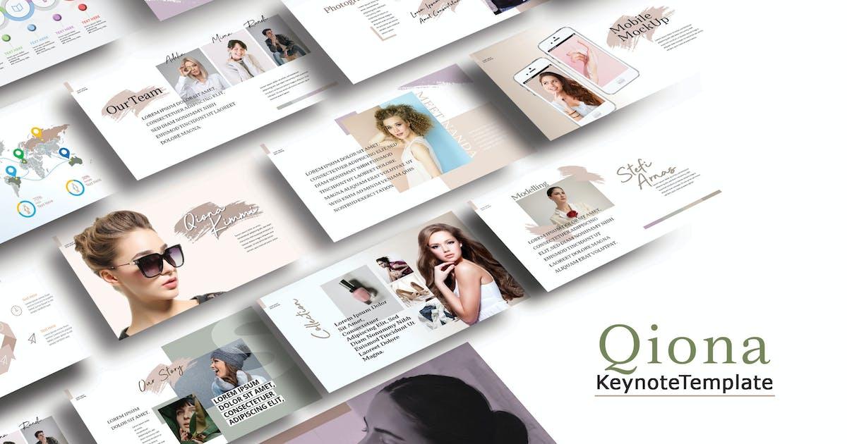 Download QIONA - Fashion Keynote Template by joelmaker