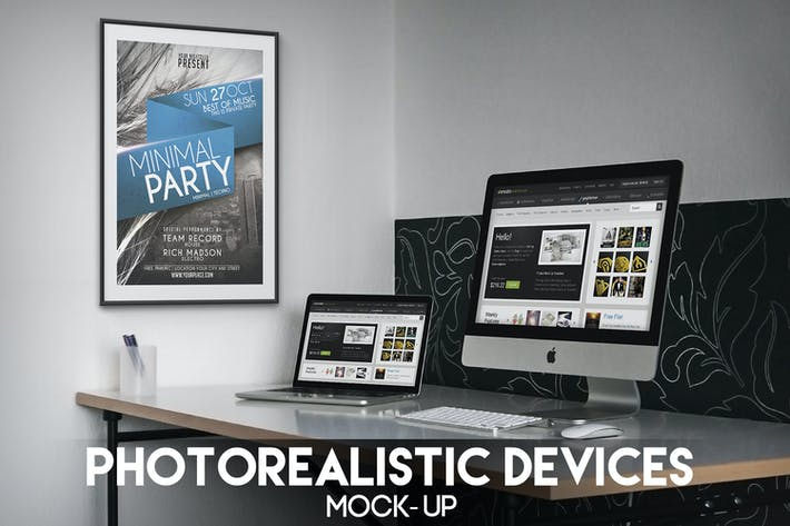 Cover Image For Photorealistic Devices Mock-Up
