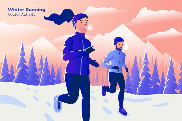 Thumbnail for Winter Running - Vector Illustration