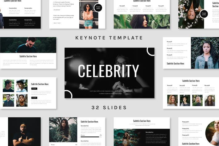 Thumbnail for Celebrity - Keynote Template