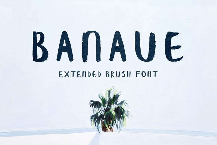 Thumbnail for Banaue Extended Brush Font