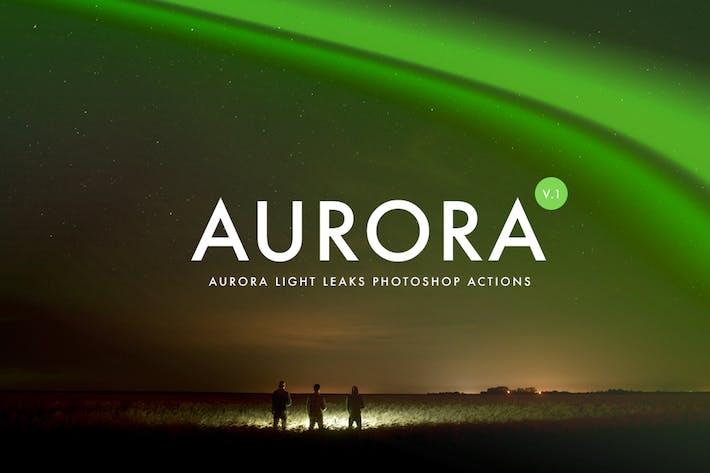 Thumbnail for Aurora Light Photoshop Actions