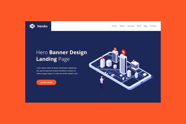 Veroks - Hero Banner Template
