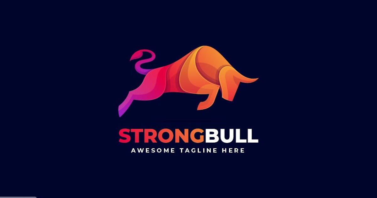Download Strong Bull Colorful Logo Template by ivan_artnivora
