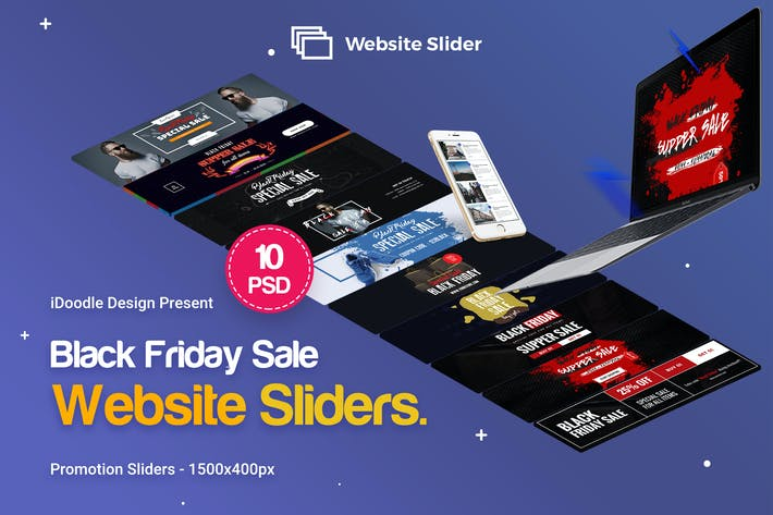 Thumbnail for Black Friday Website Slider - 10PSD