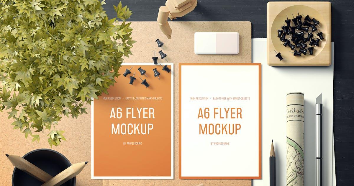 Download A6 Portrait Flyer Mockup Set 1 by professorinc