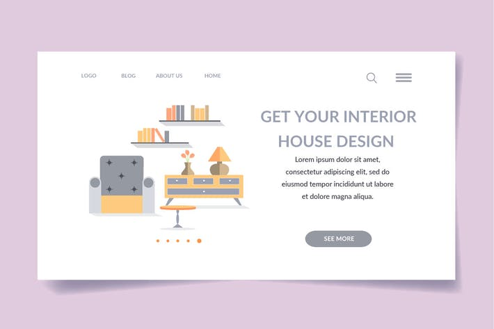 interior landing page template