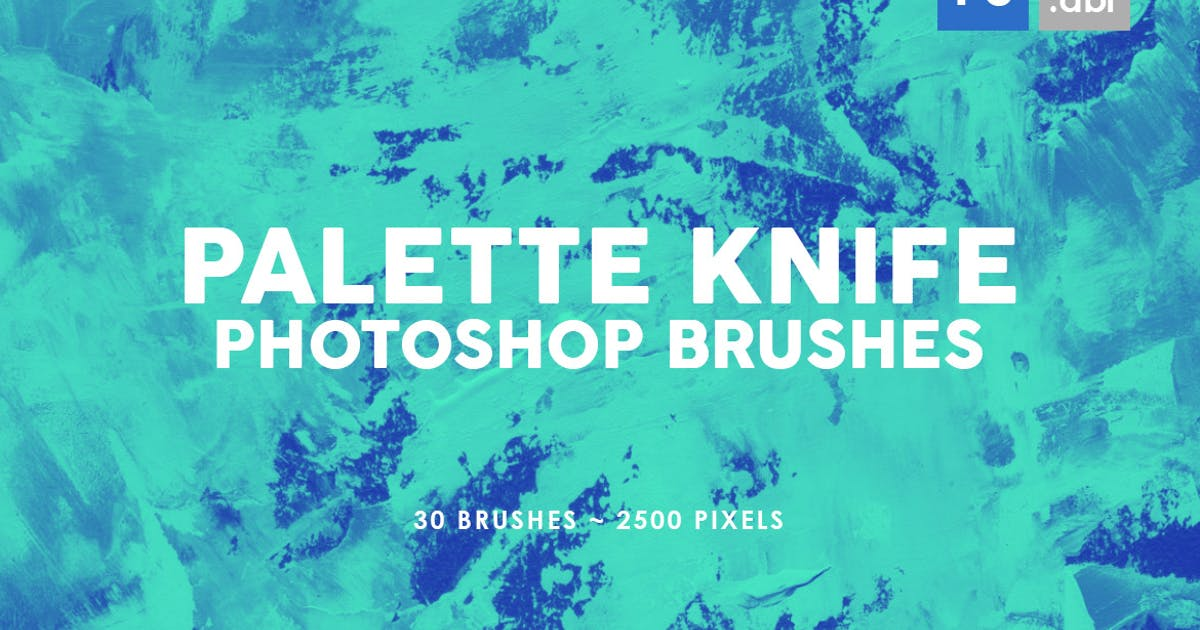 Download 30 Palette Knife Photoshop Stamp Brushes 3 by M-e-f