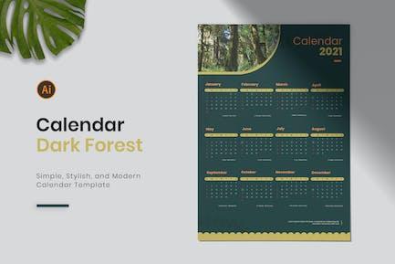 Dark Forest Calendar