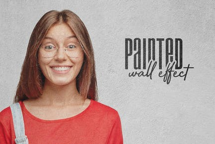 Painted Concrete Wall: Photo Effect