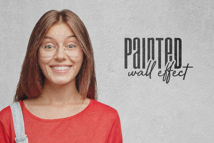 Thumbnail for Painted Concrete Wall: Photo Effect