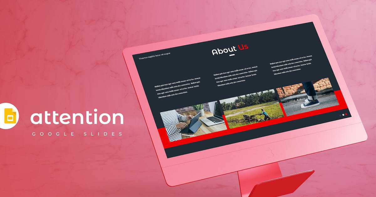 Download Attention - Google Slides Template by aqrstudio