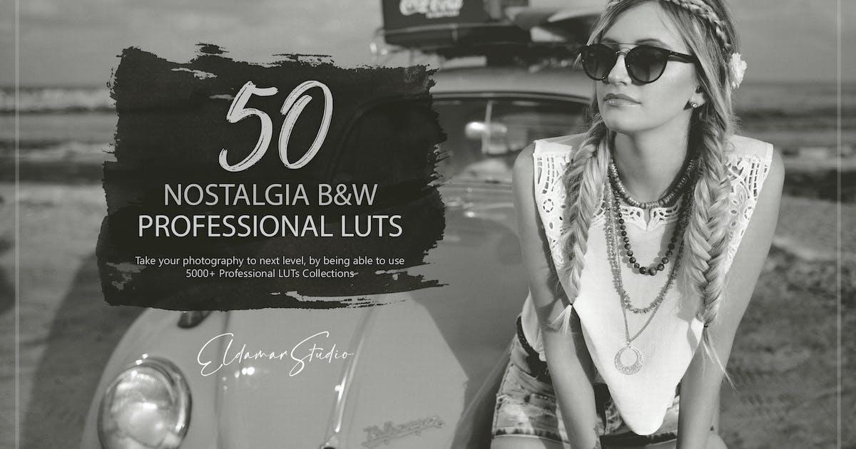 Download 50 Nostalgia Black and White LUTs Pack by Eldamar_Studio