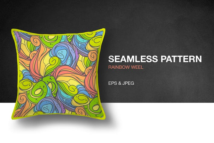 Thumbnail for Rainbow Weel Seamless Pattern