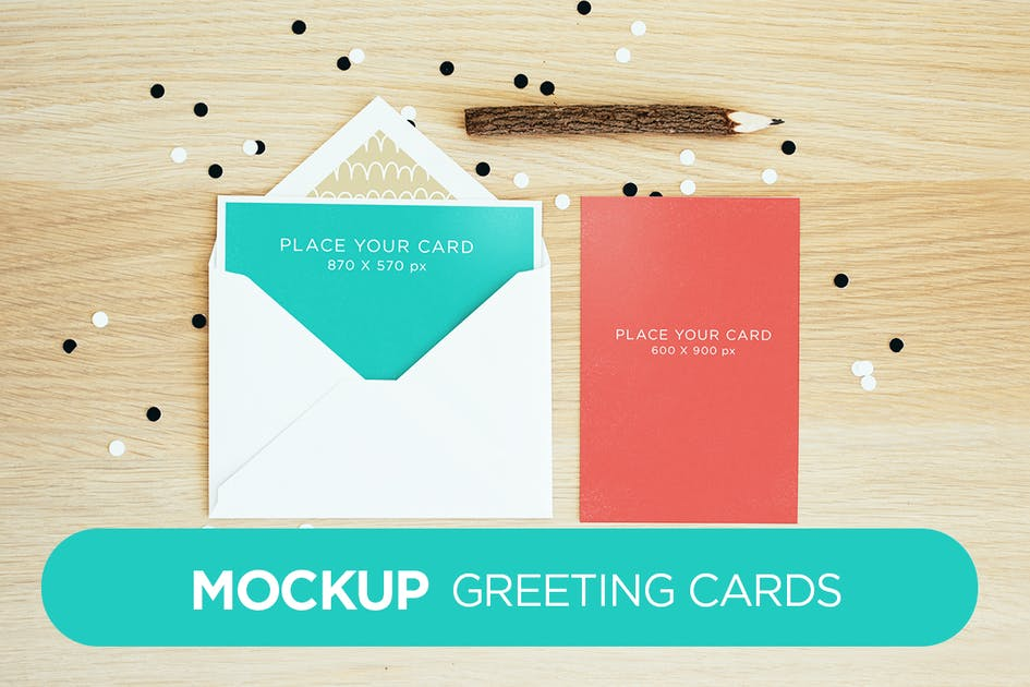Download Invitation Greeting Cards Holidays Mock-Up by itscroma