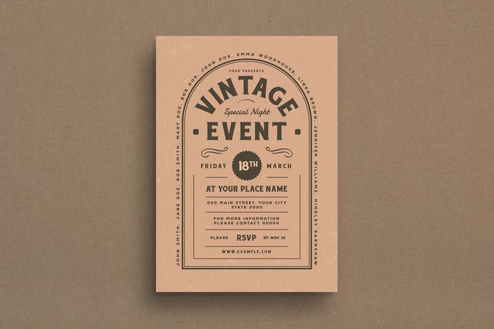 Cover Image For Vintage Event Flyer