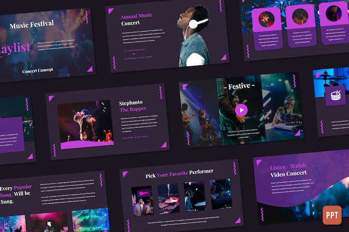 Thumbnail for Playlist - Music Festival (Powerpoint)