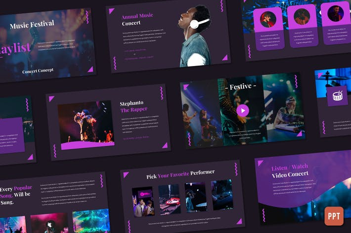 Плейлист - Музыкальный фестиваль (Powerpoint)