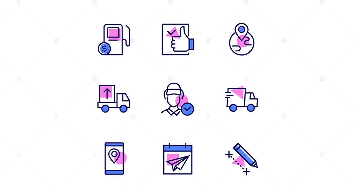 Download Logistics - Modern Line Design Style Icons Set by BoykoPictures