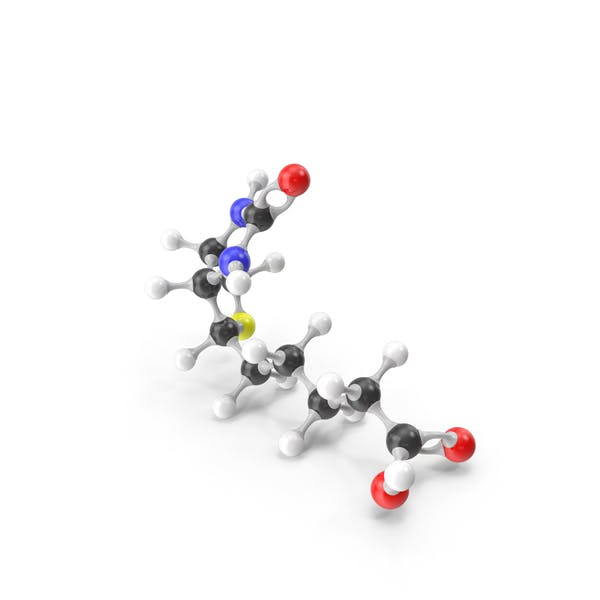 Биотин Витамин B7 Молекулярная модель