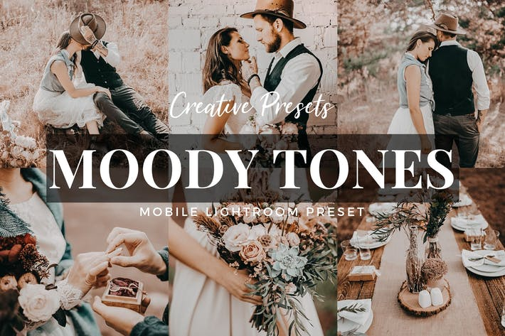 Thumbnail for Moody Tones Mobile Lightroom Preset