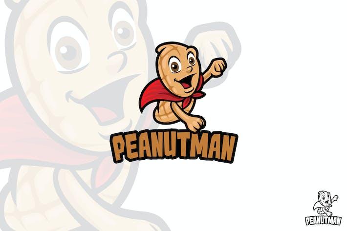 Thumbnail for Super Peanut Vector Logo Mascot