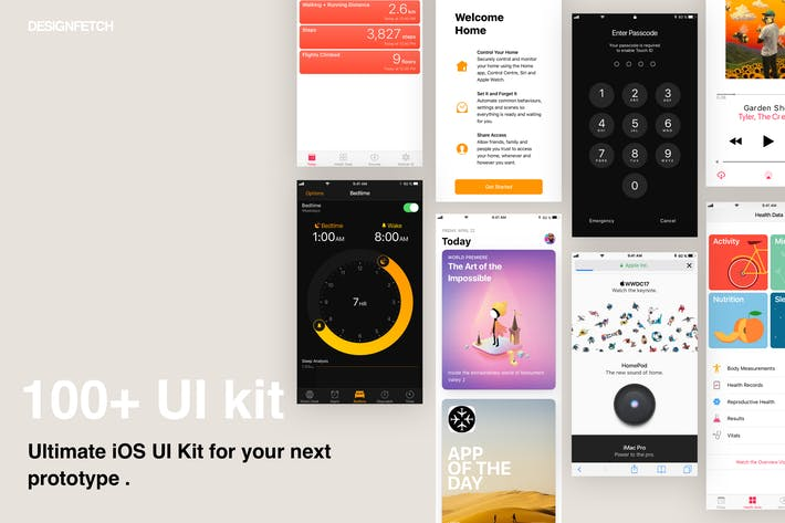 Thumbnail for ios 11 UI/UX interface Kit