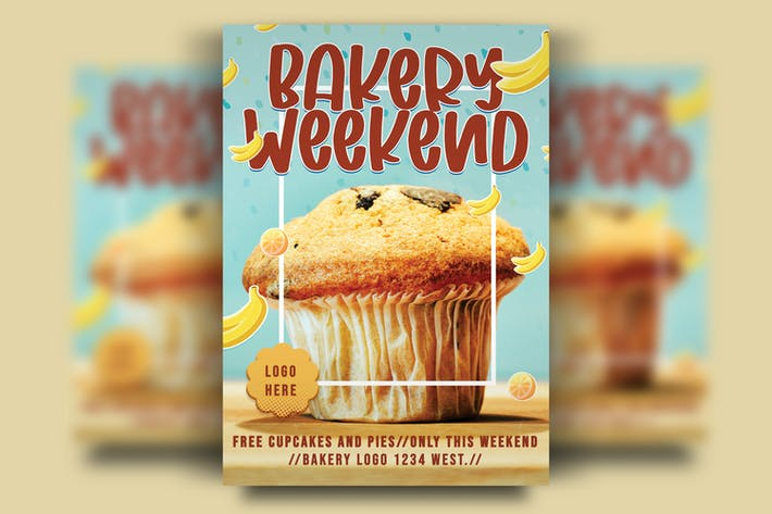Bakery Weekend Party Flyer Template