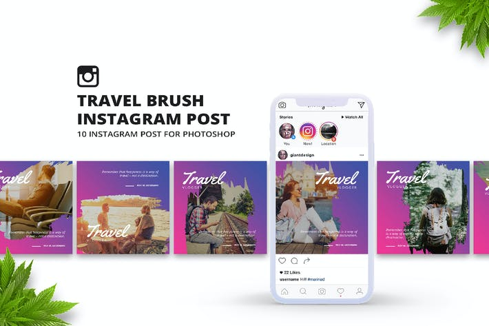 Cover Image For Travel Brush Instagram Post