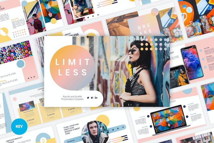 Thumbnail for Limitless - Pop Art & Graffiti Keynote Template