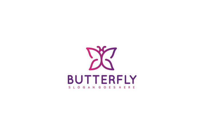 Thumbnail for Colorful Butterfly Logo