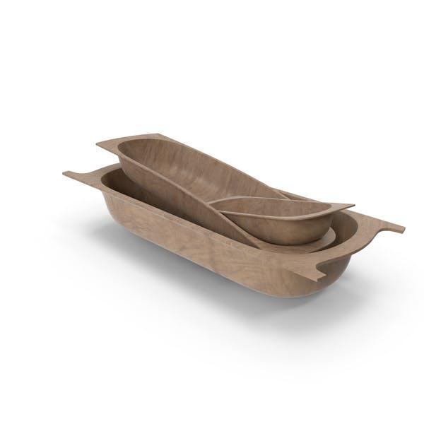 Антикварные деревянные контейнеры