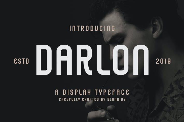 Thumbnail for Darlon - Sport Display Typeface