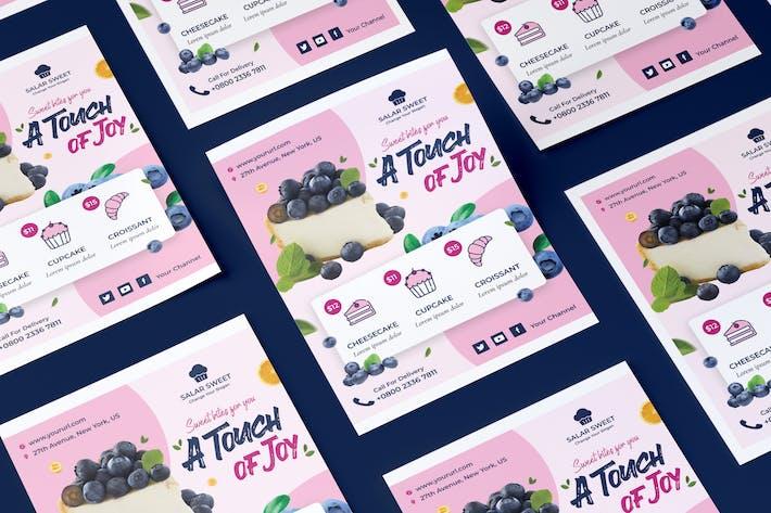 Flyer für frische Lebensmittel