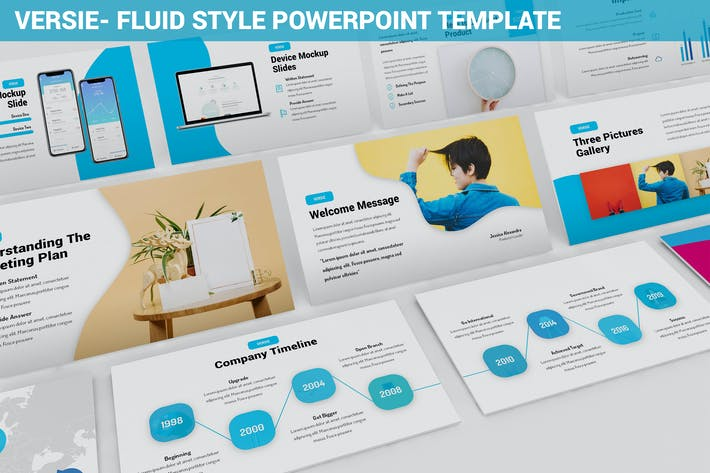 Thumbnail for Versie - Fluid Style Powerpoint Template