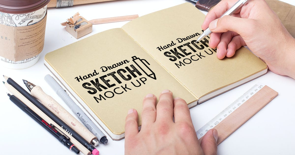 Download Sketch And Drawing Mockup Template #3 by MockupZone