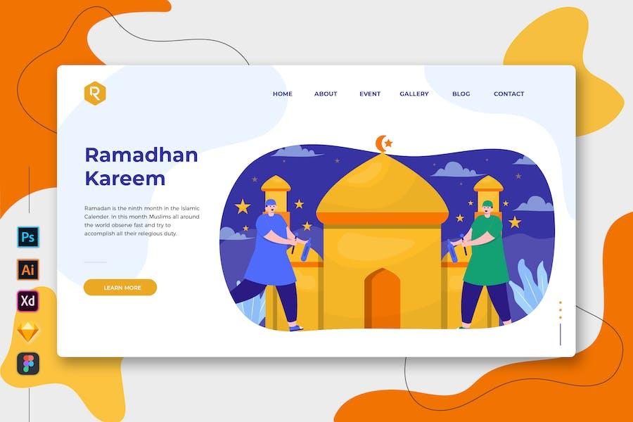 Ramadhan Kareem - Web & Mobile Landing Page