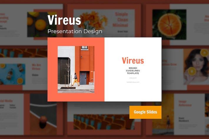 Thumbnail for Vireus - Шаблон дизайна презентаций Google Slide