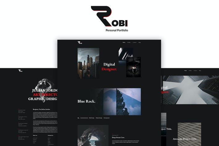 Thumbnail for Robi - Creative and Portfolio HTML5 Template