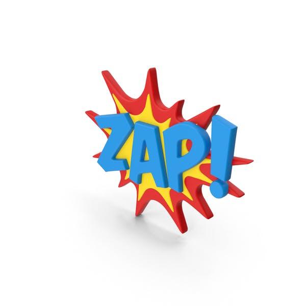 Superhero Comic Text Bubble ZAP!
