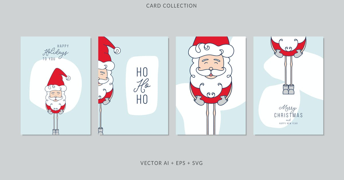 Download Christmas Greeting Card Vector Set by AgataCreate