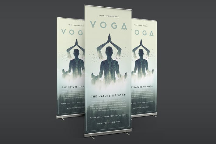 Thumbnail for Yoga Roll Banner