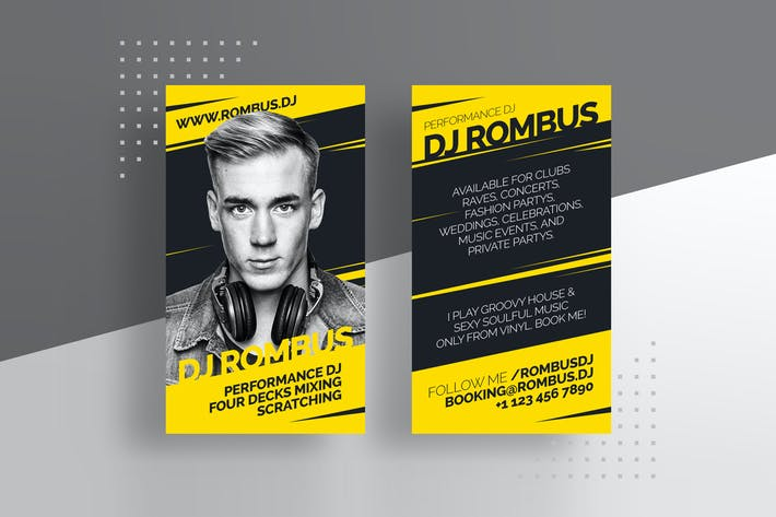 Thumbnail for Pro DJ Business Card Template